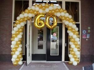Ballonboog goud wit 60